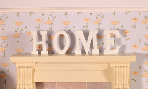 'Home' Letters In Wood, 4 Pieces