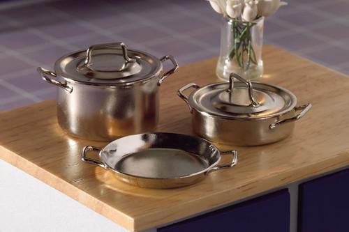 Chrome Pans, 5 Pieces 4343
