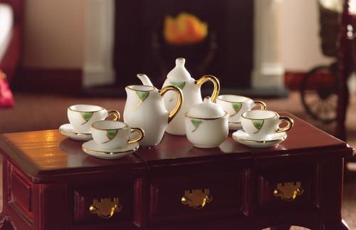 Falling Leaf Tea Set, 13 Pieces