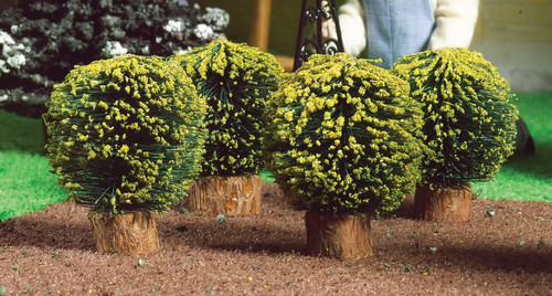 Round Box Bushes, 4 Pieces 4904