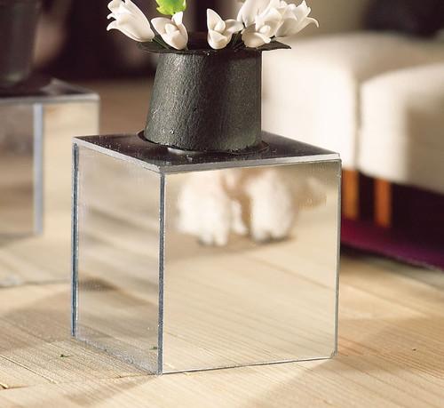 Modern Mirror Cube Side Table 4924
