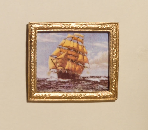 Spanish Galleon Picture in 'Gold' Frame 5322