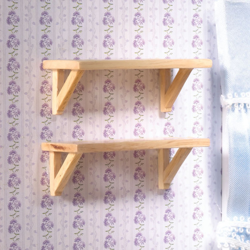 Small Pine Wall Shelves, 2 Pieces 5704