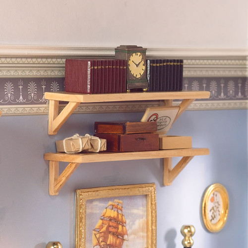 Large Pine Wall Shelves, 2 Pieces 5707