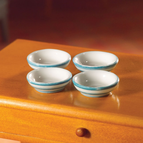 Cornish-Style Cereal Bowls, 4 Pieces 5947