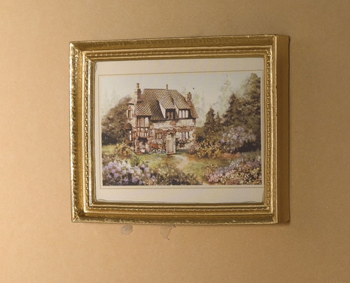 Country House Picture in 'Gold' Frame 6221