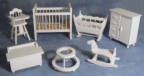 White Nursery Set, 7pcs DF269
