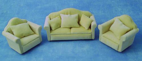 Beige Sofa Suite, Set 3pcs DF924
