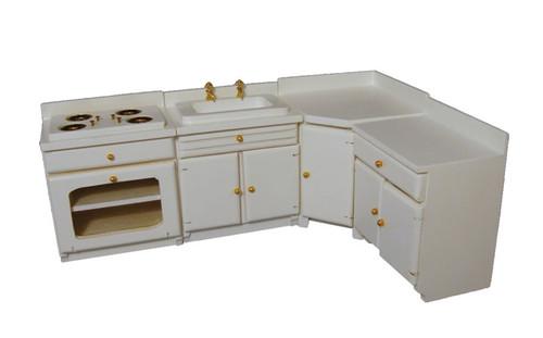 White Kitchen Set, 4pcs DF1188
