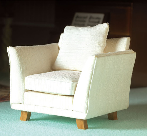 Classic Cream Silk Armchair 4062