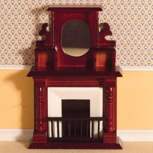 Victorian Fireplace with Overmantel 2090