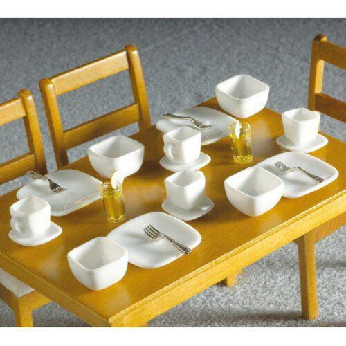 White Square Modern Crockery 16pcs 3298