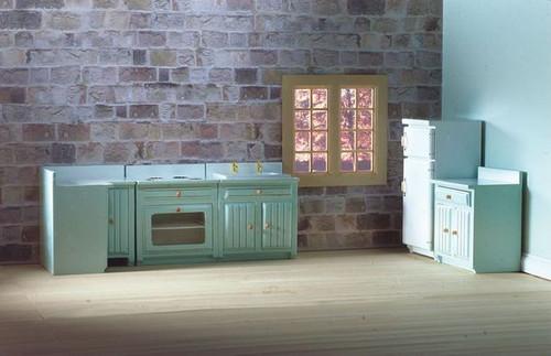 Fitted Kitchen Set Blue, 5pcs 5384