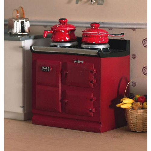 Red, Burgundy Aga-Style Stove 2941