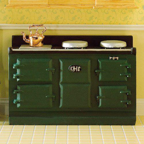 Green Aga-Style Stove 2960