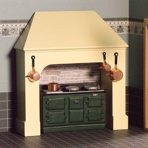 Stone, Cream Coloured Stove & Fire Surround 4024