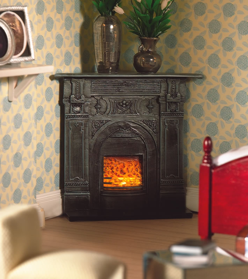 Black Corner Fireplace 5953