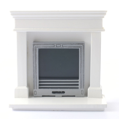 Modern white fireplace DF970