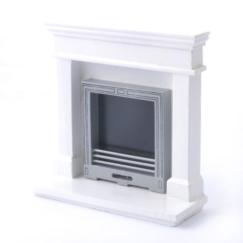 Modern White Fireplace DF970