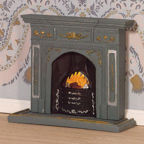 Large grey/gold fireplace 2987