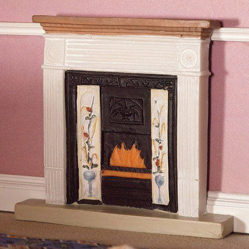 White Victorian Fireplace 2844