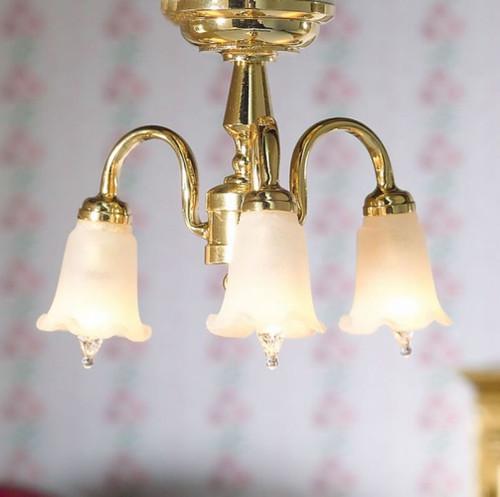Three Arm Hanging Ceiling Tulip Light 7419