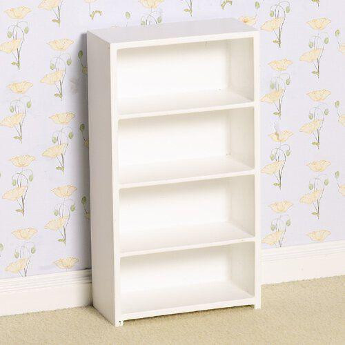 Modern White Shelving Unit, Bookcase 2448