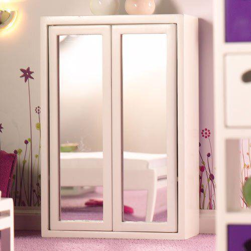 White Modern Mirror Front Wardrobe 4928