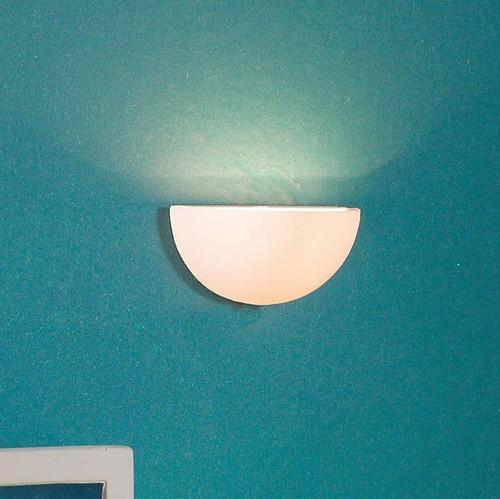 White Half Moon Wall Sconce Light 5612