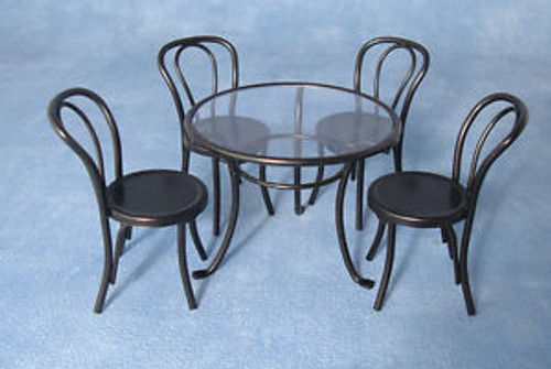 Black Metal Table & 4 Chairs DF1428