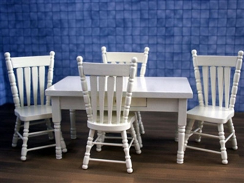 Cream Dining Table & 4 Chairs ZS48