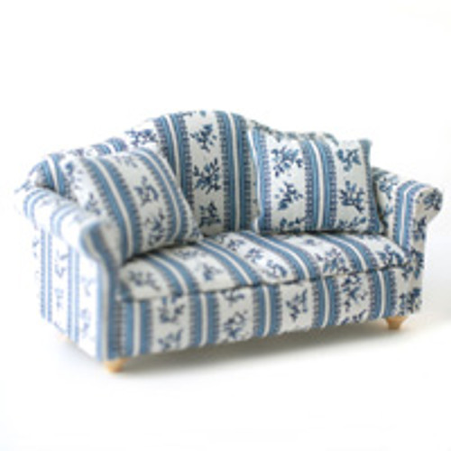 Patterned Blue Sofa, Settee DF890