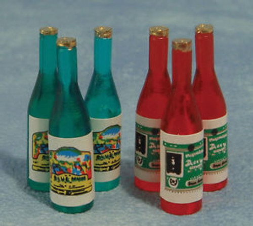Pack of 6 Wine Bottles D025