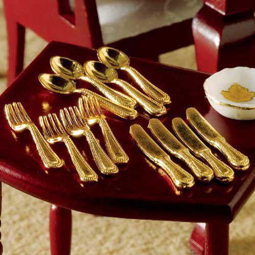 Gold Cutlery Set of 12 Pcs 4000