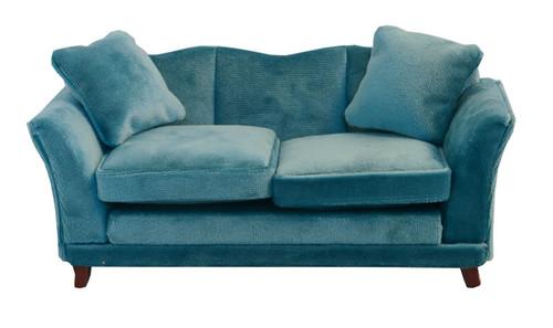 Teal Modern Velvet Sofa 9313