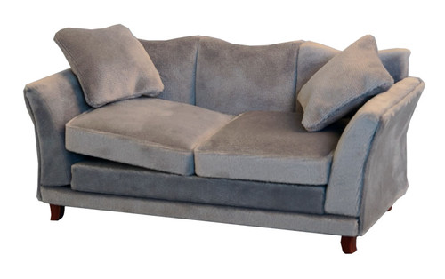 Grey Modern Velvet Sofa 9317
