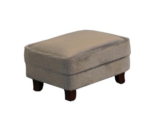 Grey Modern Velvet Footstool 9318