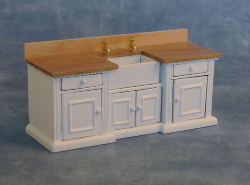 'Smallbone' Sink Unit White & Pine 9288
