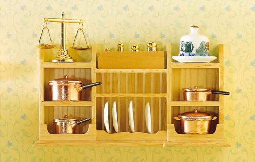 Wall Shelf Unit with Plate Rack 3536