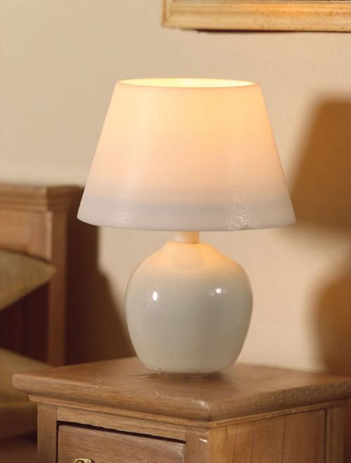 White Ceramic Table Lamp 7165