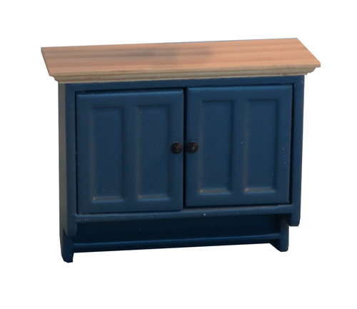 Shaker-Style Wall Cabinet Blue & Pine 9295