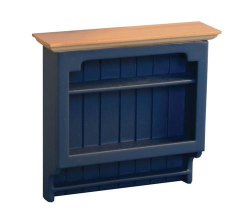 Shaker-Style Wall Shelves Blue & Pine 9296