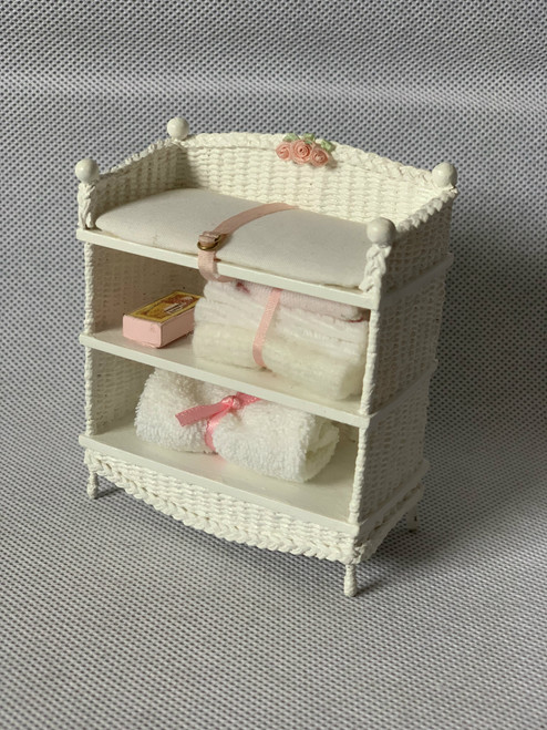 Handmade Artisan White Baby Changing Table Bathroom Unit