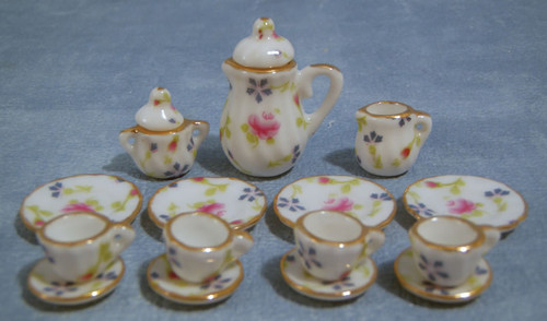 Flower Tea, Coffee Set 17 Pcs D838