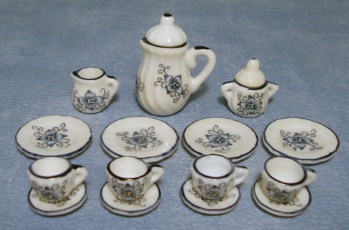 Lotus Tea, Coffee Set 17 Pcs D1720