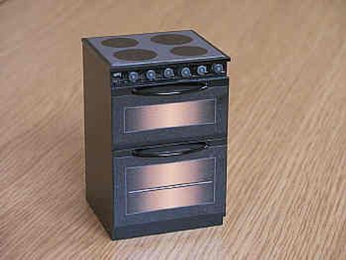 Black Electric Cooker with 'Ceramic' Hob DA5