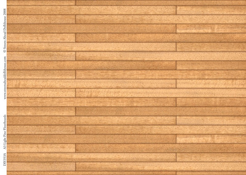 A3 Light Pine Floorboards Card DIY353A
