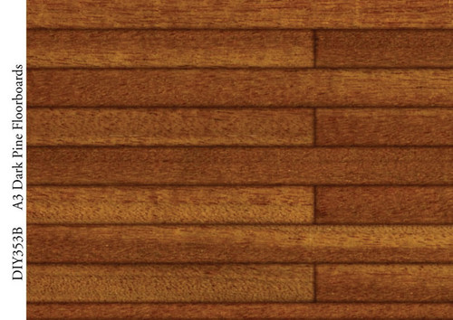 A3 Dark Pine Floorboards Card DIY353B