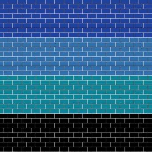 A3 Coloured Metro Tiles Gloss Card DIY762C