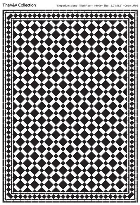 A3 Black & White Floor Tiles Emporium Gloss Card DIY059E